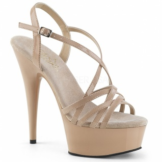Plateau High Heels Delight-613 creme