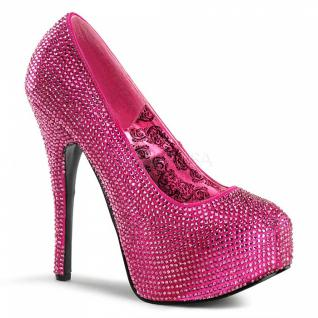 Strass Plateau Pumps Teeze-06R pink