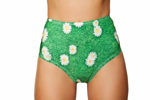 High Waist Shorts Flower