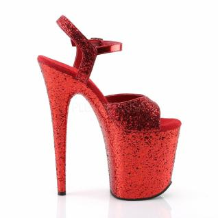 Plateau High Heels Flamingo-810LG rot 5