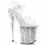 Plateau High Heels Flamingo-808GF silber