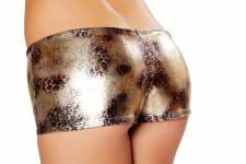 Sexy GoGo Shorts gold faded leopard