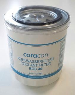 zwei Stück CORACON Kühlwasserfilter BOC 40