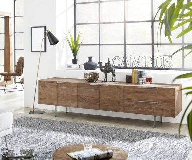 Kommode Pascale Natur 230x48x55 cm Teak Sideboard