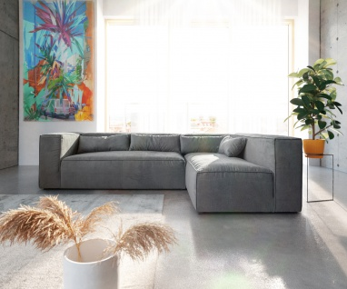 Couch Brom Taupe 267x173 cm Ottomane variabel Ecksofa