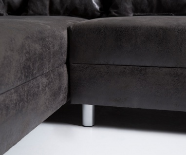 Couch Clovis XL Anthrazit Antik Optik Wohnlandschaft Modulsofa 5