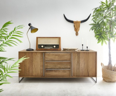 Kommode Odon 175x45x70 cm Natur Exotic Wood Sideboard