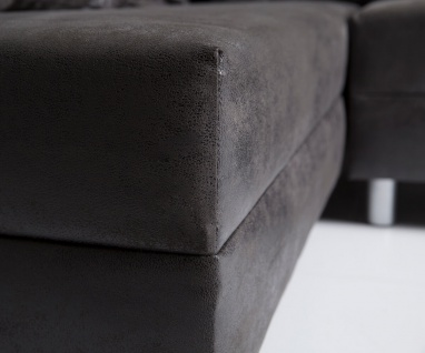 Couch Clovis XL Anthrazit Antik Optik Wohnlandschaft Modulsofa 4