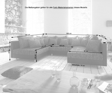 Couch Clovis Anthrazit Antik Optik Mit Hocker Wohnlandschaft