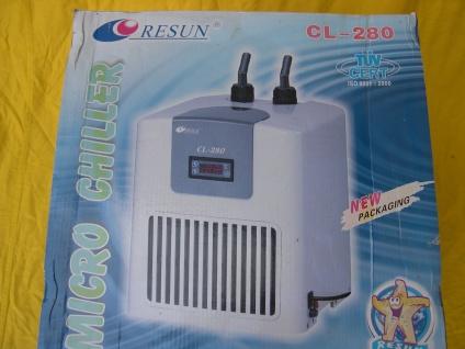 RESUN CL-280 Aquarium - Kühler Wasserkühler Kühlaggregat Durchlaufkühler 280Watt