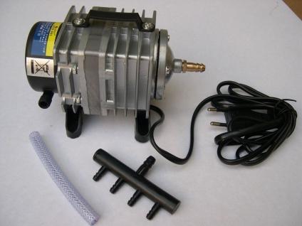Resun ACO-001 2280 l/h Sauerstoffpumpe Teichbelüfter Durchlüfter für Ausströmer