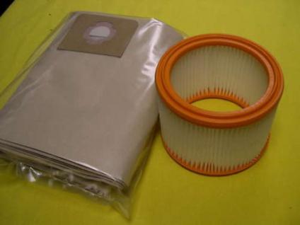 WapAlto Set Filterelement + Filterbeutel für Turbo XL Euro und SQ 550 Sauger