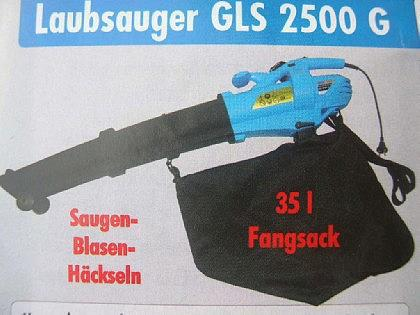 Profi Elektro - Laubsauger GSL2500 Laubhäcksler