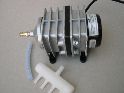ACQ - Teichbelüfter Sauerstoffpumpe 1500 Liter/h Belüfter f. Ausströmer Koiteich