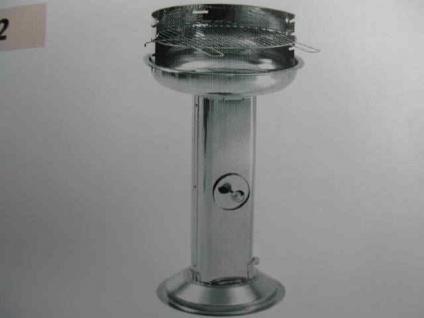 Rundgrill Edelstahl V2A Bratwurstgrill Grill Holzkohlegrill 430mm Durchmesser L2