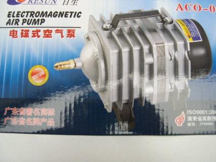 Luftpumpe 3900 l/h Kolbenkompressor Sauerstoffpumpe Teichbelüfter für Ausströmer - Vorschau 2