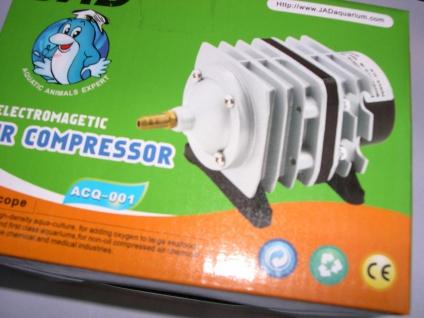 ACQ Teichbelüfter 1500 L Sauerstoffpumpe Durchlüfter Luftpumpe f Ausströmerstein