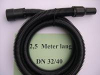 2,5m Saugschlauch 3tg m. Muffen DN32/40 Lidl Parkside NT Sauger