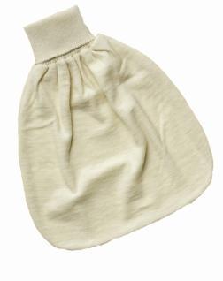 Baby Strampelsack aus Bio-Schafwolle und Bio-Frottee