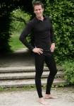 Herren Unterhosen lang aus Bio Wolle Seide
