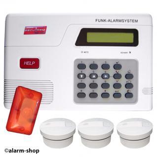 Funk Rauchmelder System mit Sirene - Vorschau