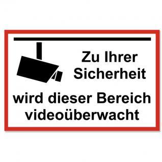 Aufkleber Videoüberwachung Video Sticker Abschreckbild