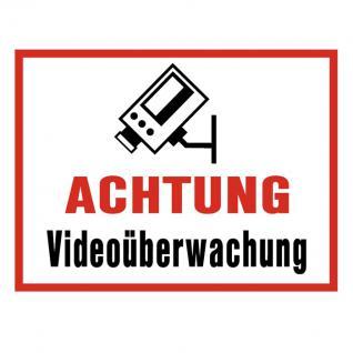 Aufkleber Videoüberwachung Videoüberwacht Abschreckung Sticker Video
