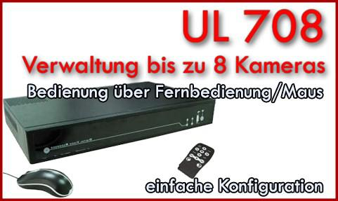 8 Kanal Digital Video Rekorder UL 708