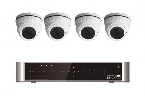 Videoüberwachung Full Hd 1080P Set Innen Außen Nachtsicht 30 Meter