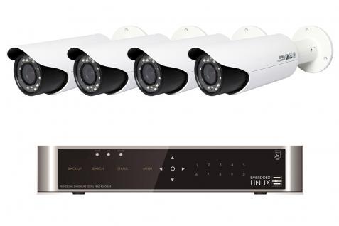 Videoüberwachungssystem Set Komplettset Full HD 1080P Videoüberwachung - Vorschau 1