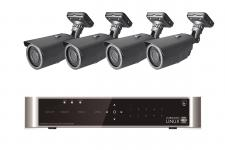 E-8004 SET 4 Kanal Full-HD Hybrid Videoüberwachung mit 4 HD 281 Kameras
