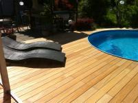 Terrassenholz Garapa glatt - die Barfussdiele - jahrzehntelang haltbar