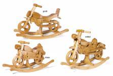 Schaukelpferd - Schaukelmotorrad aus Holz