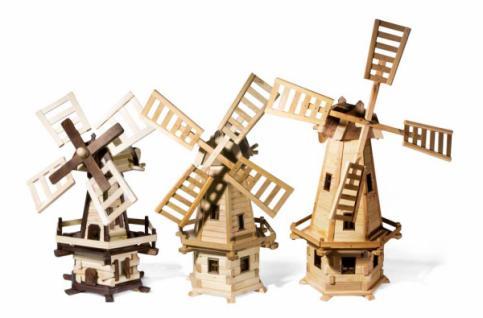 Windmühlen/Windräder aus Holz