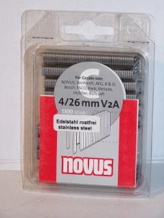 Tackerklammern INOX Typ C/606 26 mm 1100 Stück von Novus - Vorschau