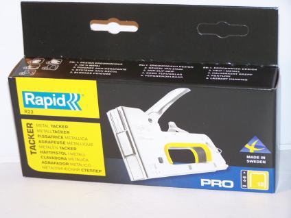 Handtacker Rapid R23 ....METALL.... für Klammern Typ13/37/H 4-8mm