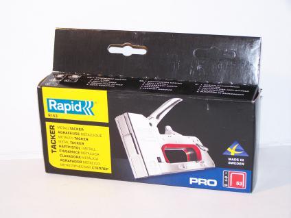 Handtacker Rapid R153 metall für Klammern Typ 53/530 von 4-10mm incl. 1000 Klammern