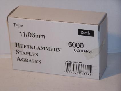 Tackerklammern Typ 11 /140 6mm 5000 Stück von Reptile-Rapid - Vorschau