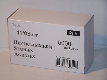 Tackerklammern Typ 11 /140 8mm 5000 Stück von Reptile-Rapid - Vorschau
