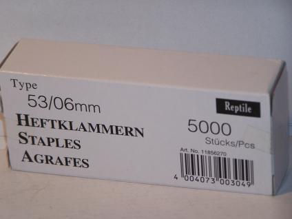 Tackerklammern Typ 53/530 6mm 5000 Stück von Reptile-Rapid - Vorschau