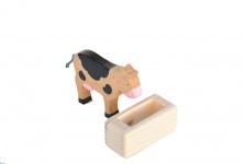 Futtertrog aus Holz für Spielzeugbauernhof