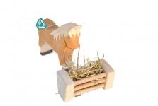 Heuraufe aus Holz für Spielzeugbauernhof