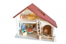 Holzpuppenhaus, Stall, Bauernhof