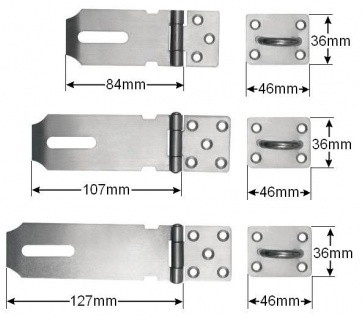 Edelstahl Überfalle Riegel Türriegel Türbeschlag Vorhängeschloß - Vorschau 2