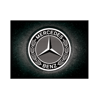 Magnet 6 x 8 cm Mercedes-Benz Logo Black