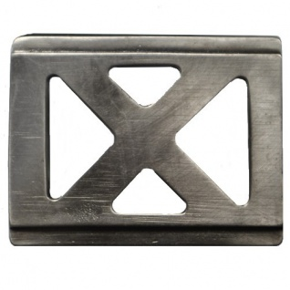 Gürtel Schnalle Schließe silber für 35 mm Gürtel Buckle Ledergurt (2)