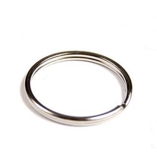 250 Schlüsselringe Außen Ø 20mm / Innen Ø 17, 5mm gehärteter Stahl Schlüsselring