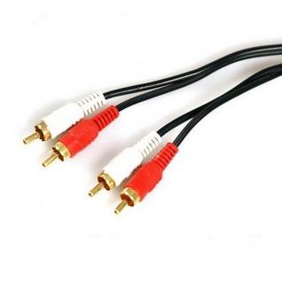 1, 5 Meter Stereo HiFi Kabel VERLÄNGERUNG Audio 2x Cinch Chinch Stecker