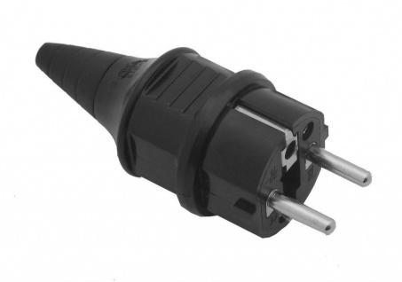 Schukostecker Schuko Netz Stecker PVC IP44 230V 16A Netzstecker