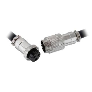 Steckverbindung Stecker Kupplung mit Schraubverschluss Kabel Verlängerung